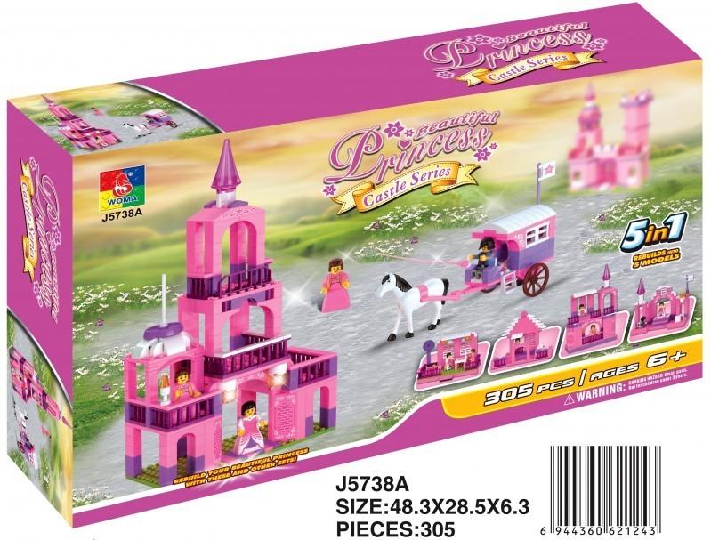 Zámek pro princezny 5 v 1, 305 dílků