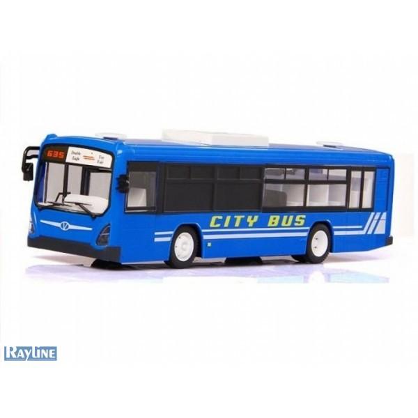 RC Autobus s otvíracími dveřmi 33cm modrý