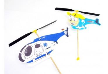 2x Vrtulník na gumový pohon pro sourozence