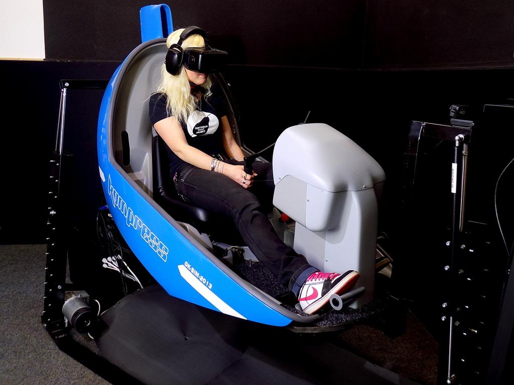 simulátor letu vrtulníku