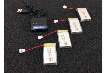 Nabíječ pro Syma X5C plus 4 x Li-pol 750 mAh