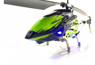 Extra odolný Vrtulník zeleno černý s osvětlením
