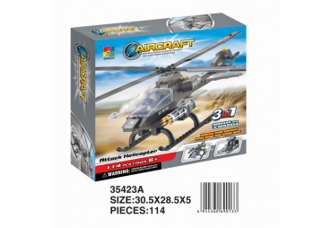 Vojenská helikoptéra, 3 v 1, 114 dílků