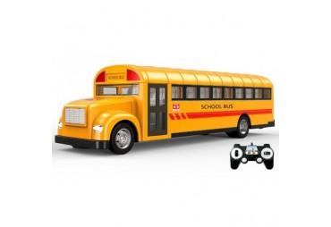 RC školní autobus s otvíracími dveřmi 33cm modrý
