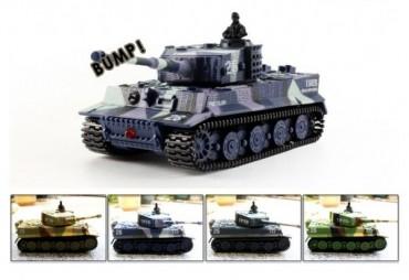 Mini tank GERMAN TIGER na dálkové ovládání 1:72