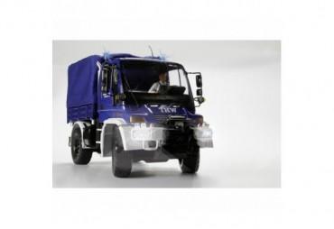 MB Unimog U300 THW 2,4 GHz s modrou plachtou