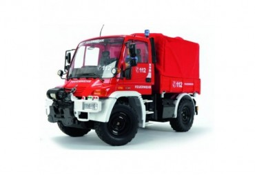 MB Unimog hasiči 2,4 GHz červený