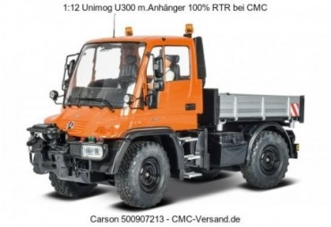 MB Unimog U300 2,4 GHz oranžový s vozíkem