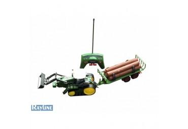 RC pásový traktor s přívěsem
