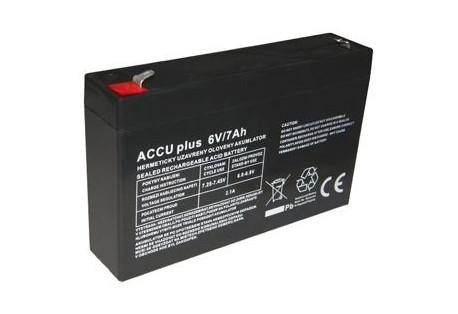 Akumulátor 6V / 7Ah - ACCU plus - bezúdržbový olověný