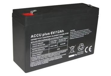 Akumulátor 6V / 12Ah - ACCU plus - bezúdržbový olověný