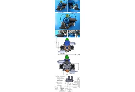 Paramotor DLE200 (laděný výfuk)